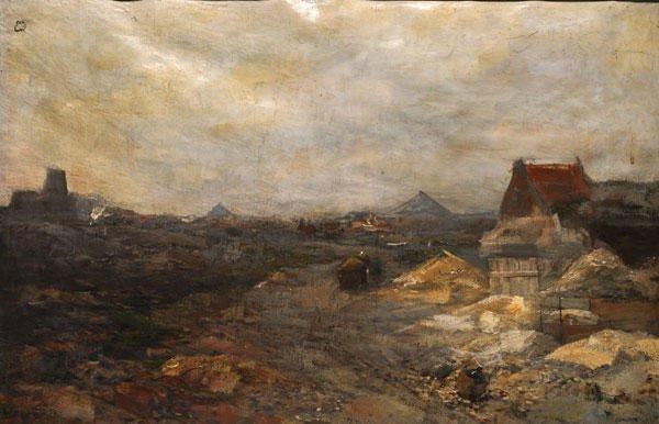 """18: HEIJENBROCK, Herman (1871-1948)  """"Fabrieksterrein F"""