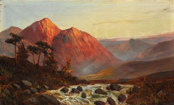 """20: JAMIESON, Frances E. (1895-1950)  """"Falls of Brora,"""