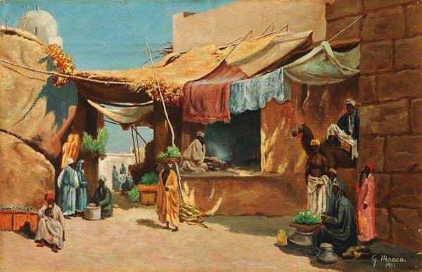 21: MACCO, Georg (1863-1933)  The souk  Oil on canvas