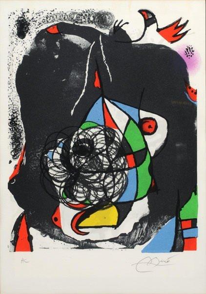 22: MIRO, Joan (1893-1983)  Shapes and colors Swirl  Pr