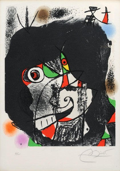 23: MIRO, Joan (1893-1983)  Mass brightened with shapes