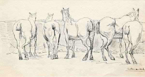 24: MOITTE, Jean Guillaume (1746-1810)  Horses and a c