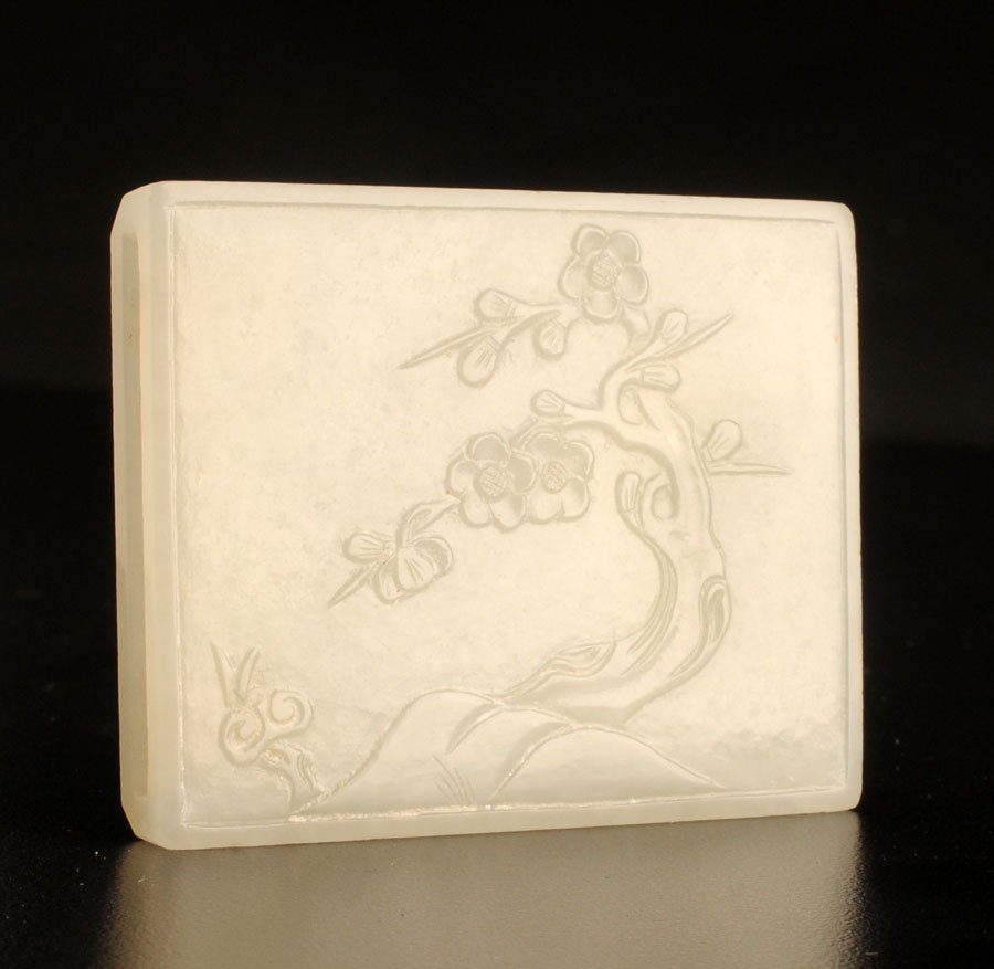 ANTIQUE WHITE JADE PLAQUE - Westmount
