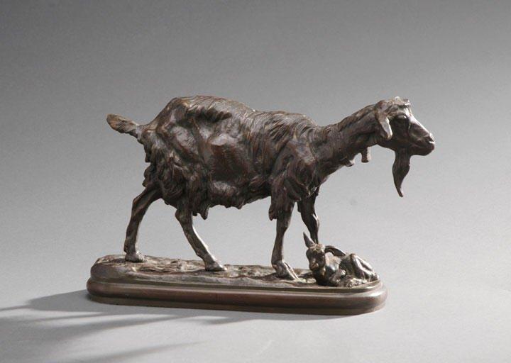 6: FRÉMIET, Emmanuel (1824-1910) Goat and its kid Bron