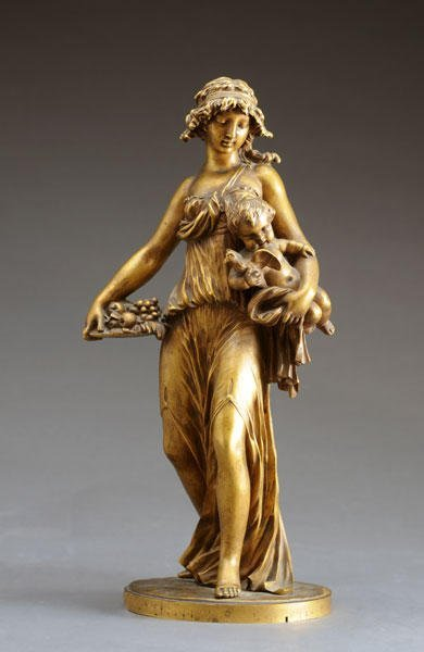 7: LINKE, François (1855-1946) Allegory of Spring Bronz