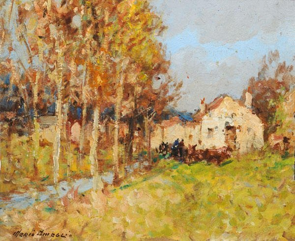 16: AMEGLIO, Merio (1897-1970) House with an avenue of