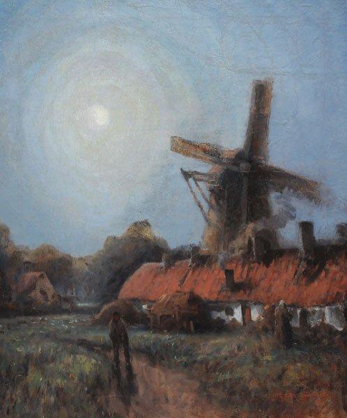 19: CHAVIGNAUD, Georges (1865-1944) Figures near a wind