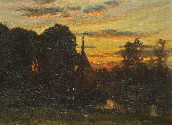 "22: ENNEKING, John Joseph (1841-1916) ""Sunset on the (?"
