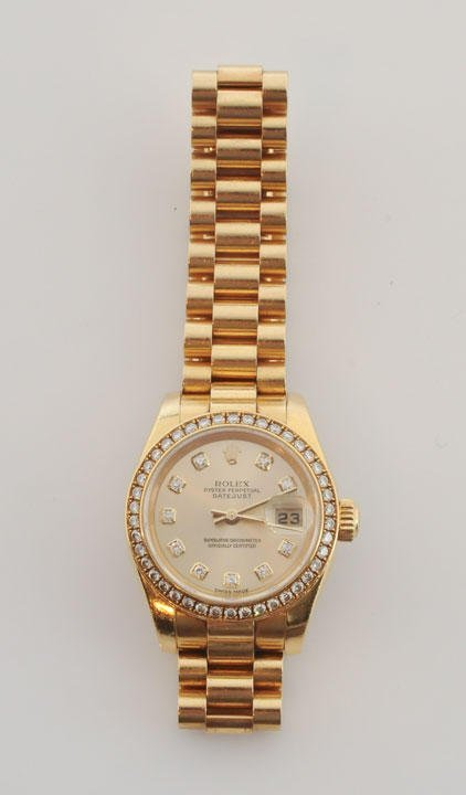 1011: ROLEX WOMEN - GOLD AND DIAMONDS