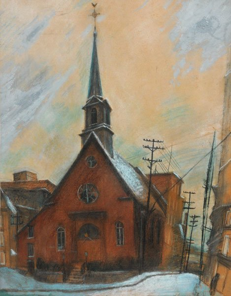 15: BERCOVITCH, Alexandre (1891-1951) Church Pastel and