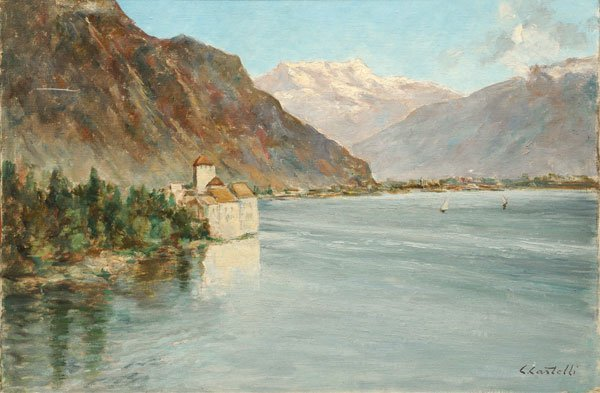 "4: CASTELLI, Clément (1870-1959) ""Sailing on Lake Como"""