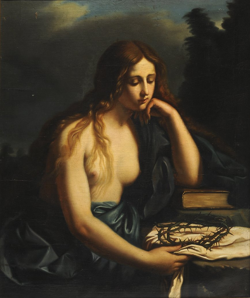 5: after GUERCINO Mary Magdalene Oil on canvas  99x83cm