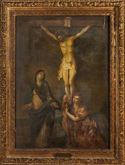 12: ÉCOLE HOLLANDAISE 18TH CENTURY The Crucifixion Afte