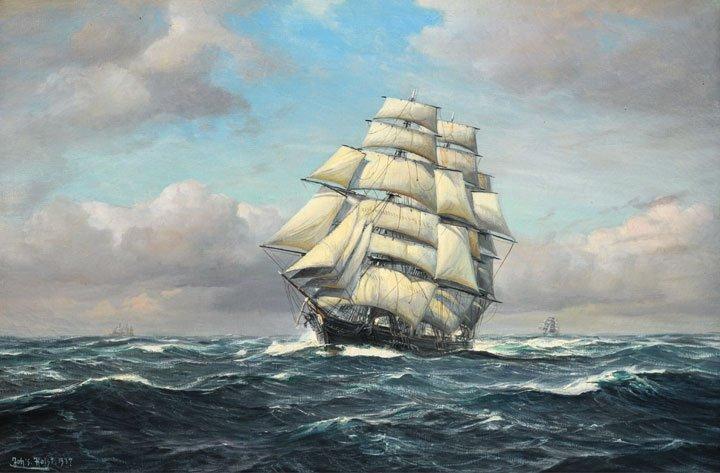 """13: HOLST, Johannes (1880-1965) """"Through Choppy Sea"""" Oi"""
