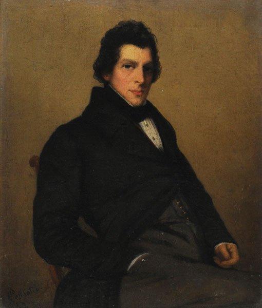 "18: PENSOTTI, Céleste (1810-?) ""Frederick...(?)"" Oil o"