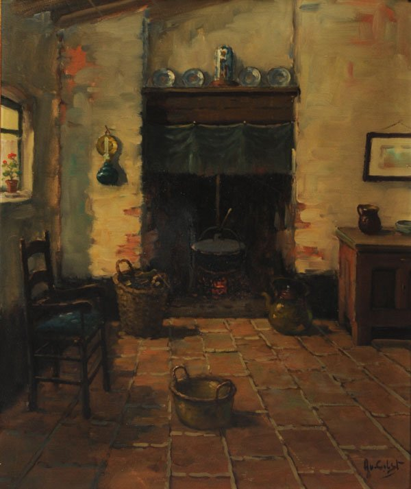 20: VAN GILST, Aarnout (1898-1981) Interior Oil on canv