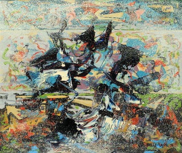 "41: BELLEFLEUR, Léon (1910-2007) ""Vers la jetée"" Oil on"