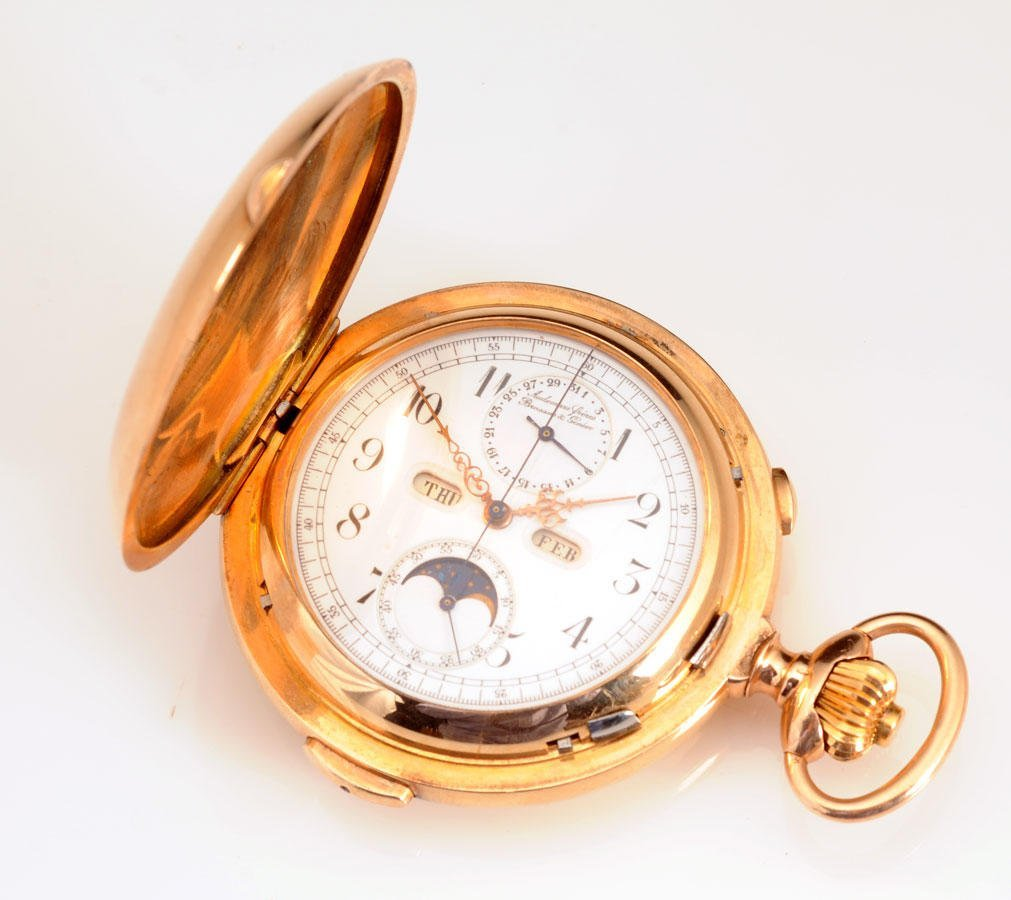 2005B: AUDEMARS ET FRÈRES 14K yellow gold pocket watch,