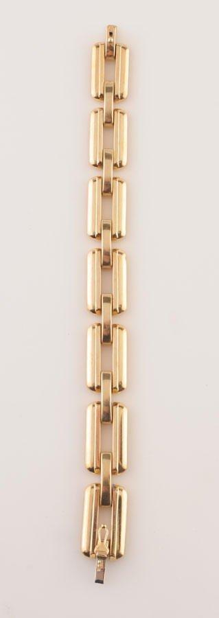 2011: 14K yellow gold bracelet (stamped). Signed Birks.