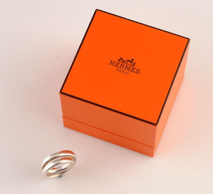 2015: HERMÈS 925 silver (stamped) ring, ''Vertige'' mod