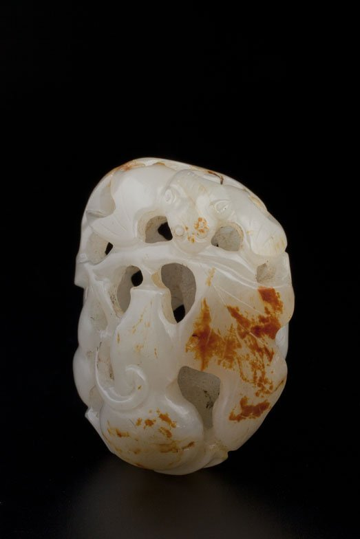 RETICULATED JADE PENDANT - Private Canadian Collector
