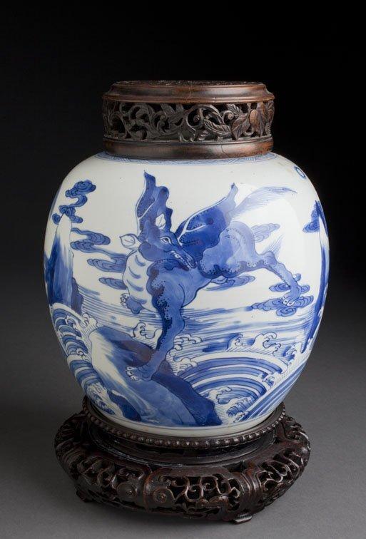 KANGXI BW QILIN JAR - Mr. K. / Vermeer & Griggs LA