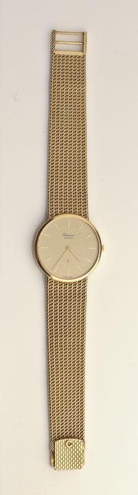 18K yellow men wristwatch, numbered 209 868 1091, gold