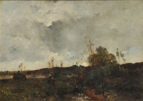 PELOUSE, Léon Germain (1838-1891) Brittany watching duc