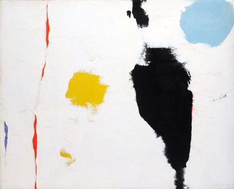 """LEFEBURE, Jean (1930-) """"Joie du vide"""" Oil on canvas Sig"""
