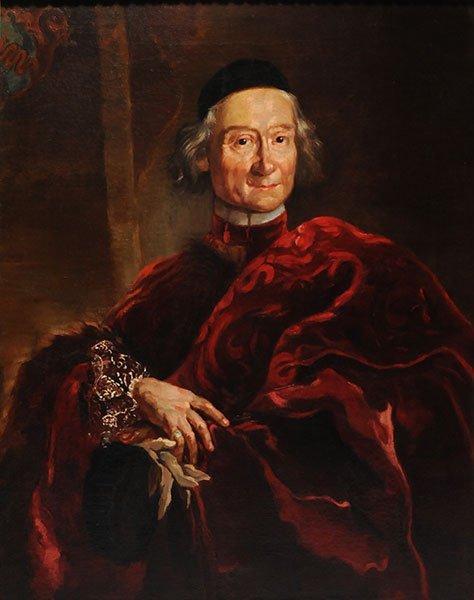 EUROPEAN SCHOOL 19th c. Portrait of an Ecclesiastical O