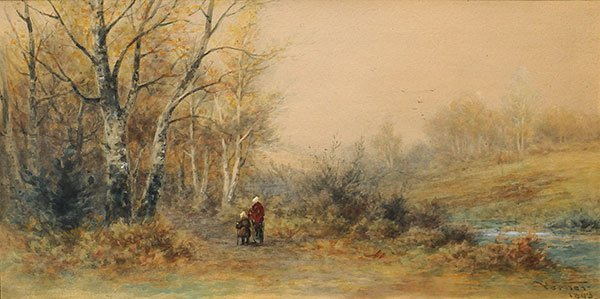 "VERNER, Frederick Arthur (1836-1928) ""Homeward Bound"" W"