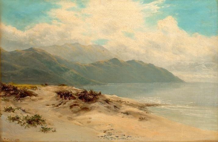 "SHERRIN, Daniel (1868-1940) ""View in North Wales"" Oil o"