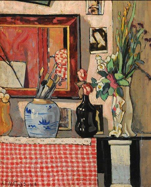 MATHYS, Albert François (1885-1956) Still life with bru