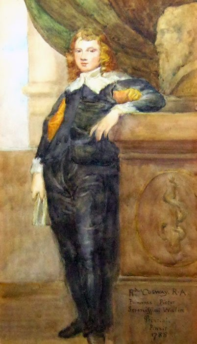 ENGLISH SCHOOL 18TH-19TH CENTURY Portrait of a standing