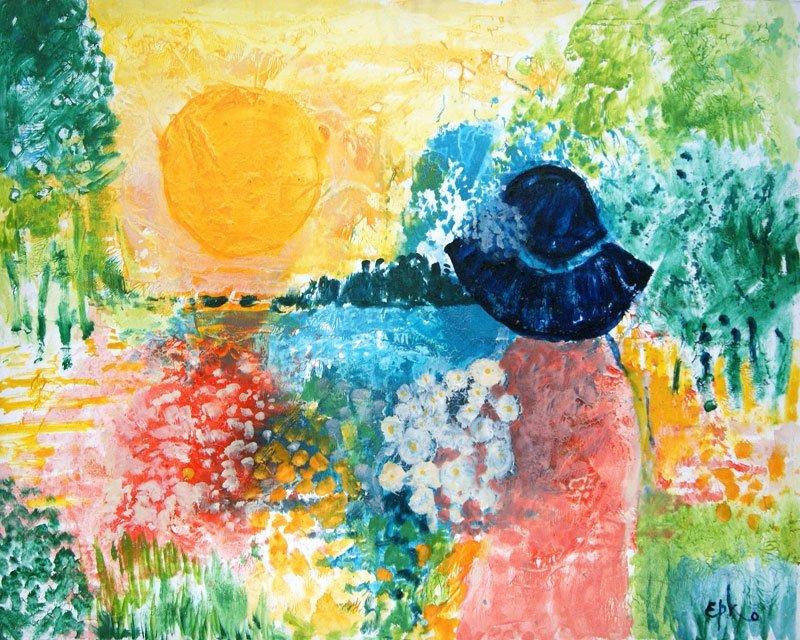 "EPKO (1928-) ""Soleil d'été"" Oil on canvas Signed on the"