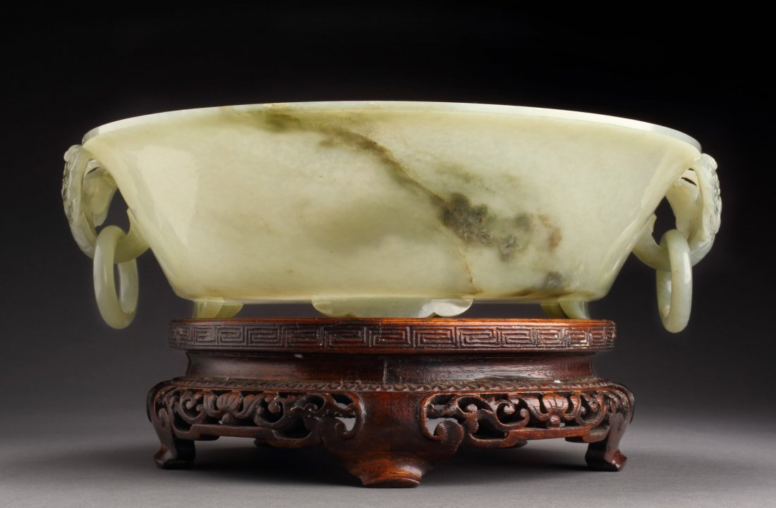 IMPORTANT FINE & ANTIQUE JADE MARRIAGE BOWL- Important