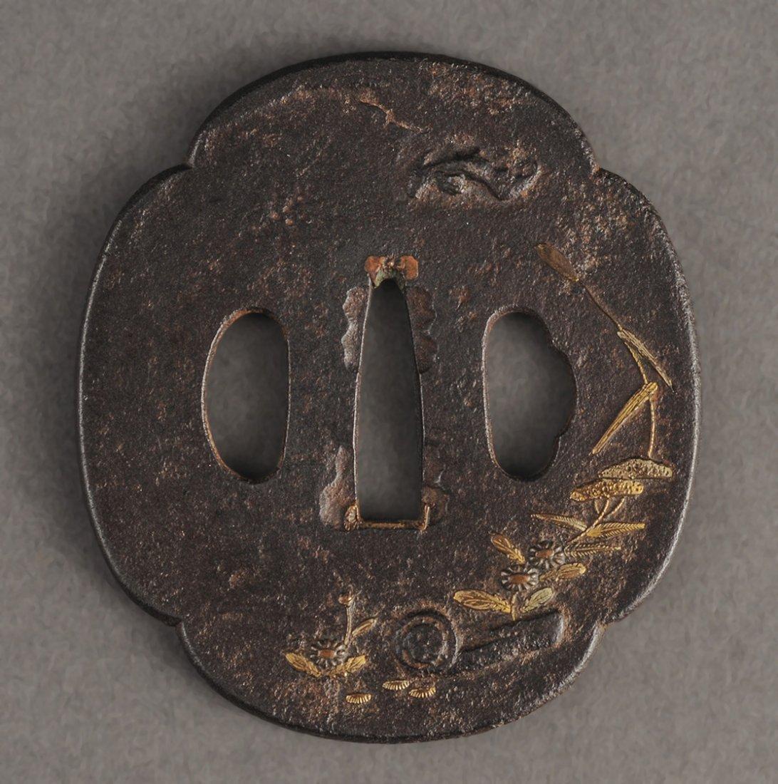 FINE 19TH C. IRON TSUBA