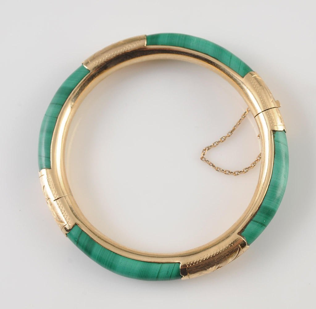 GOLD 14K AND MALACHITE