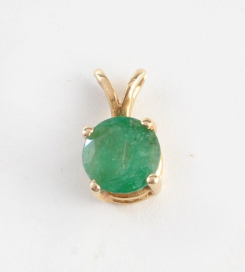 14K GOLD AND EMERALD