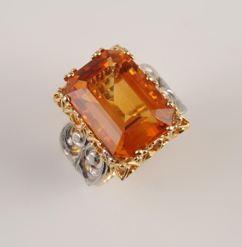 18K GOLD AND CITRINE