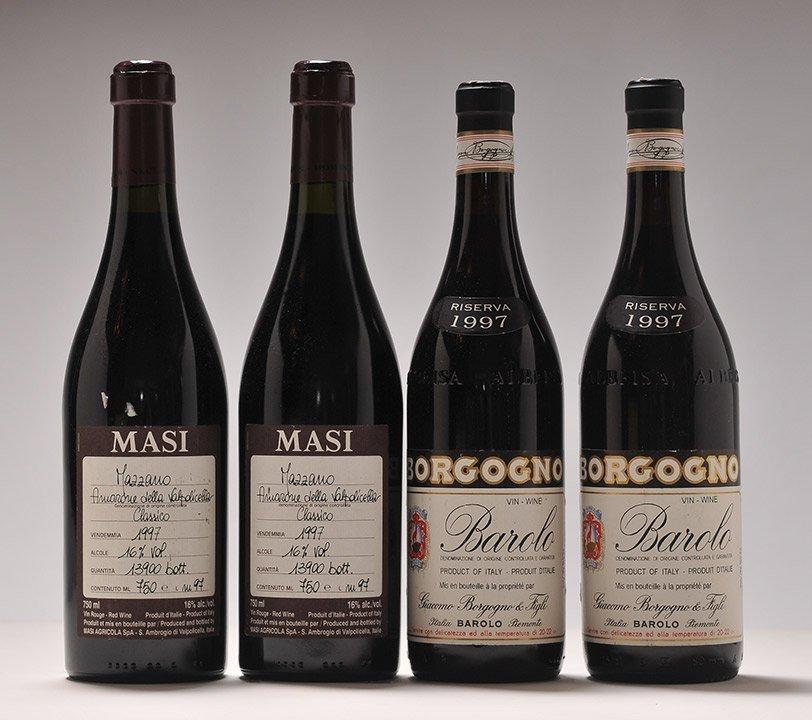 Borgogno Riserva 1997 & Masi Mazzano 1997 - 4 bottles
