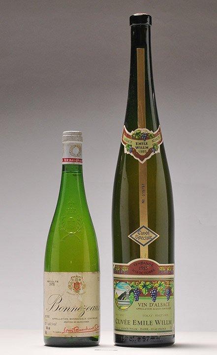 Bonnezeaux 1978 & Cuvée Emile Willm 1985 - 2 bottles
