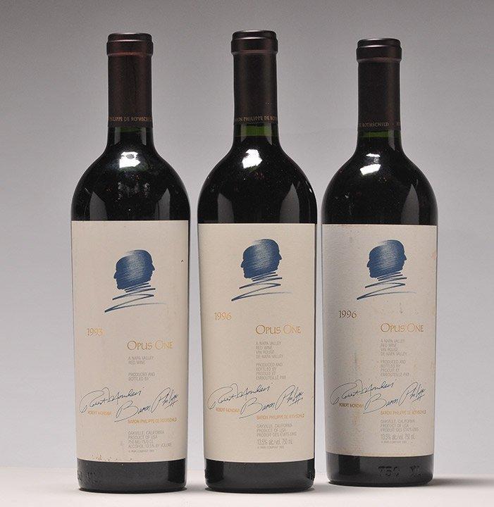 Opus One 1993 & 1996 - 3 bottles