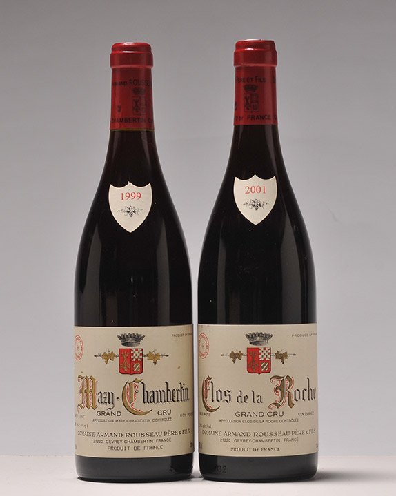 Clos de la Roche Gd Cru 2001 & Mazy-Chambertin Gd Cru