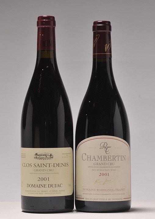 Clos Saint-Denis Gd Cru 2001 (Dujac) & Chambertin Gd