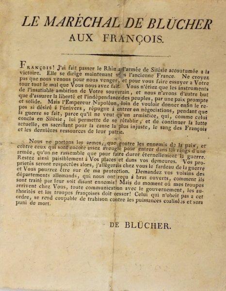 Proclamation of  the  Maréchal de Blücher