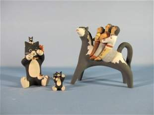 3: Cochiti Pueblo Pottery Figures