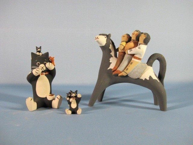 3: Cochiti Pueblo Pottery Figures