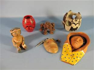 5: Six Pieces of Native American Pottery