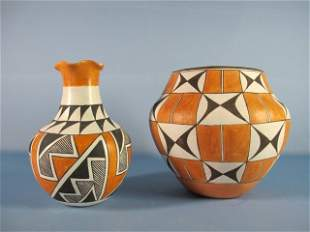 6: Acoma Pottery Vase and Olla